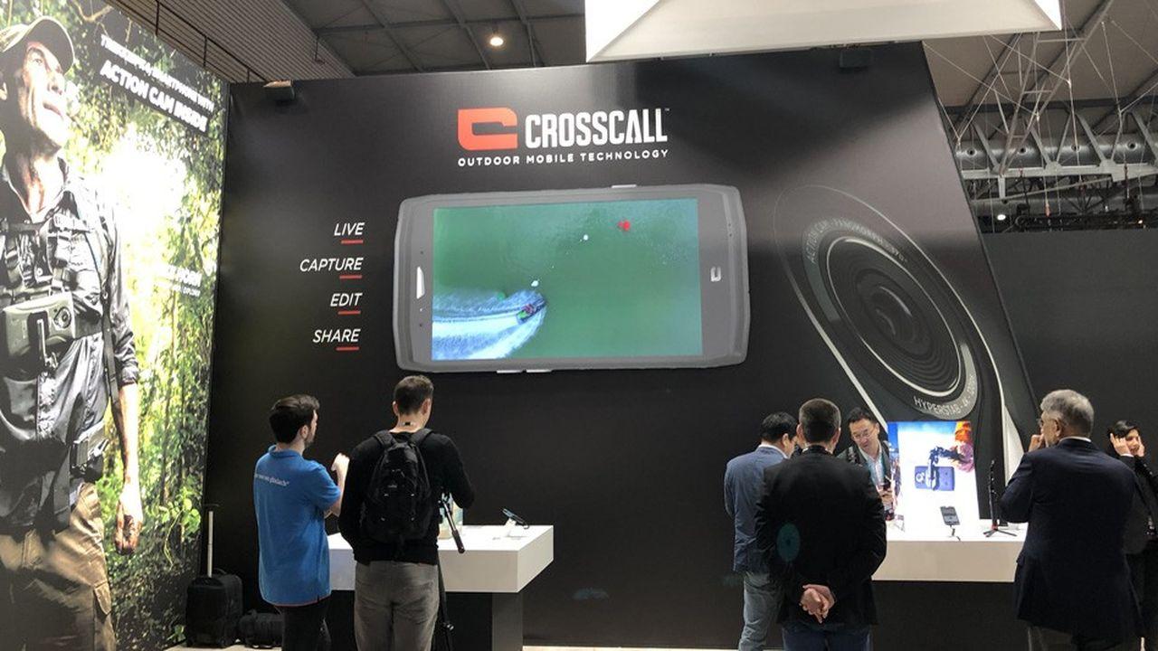 La société aixoise CrossCall a présenté son téléphone embarquant une Action Cam, à rebours des annonces du MWS.