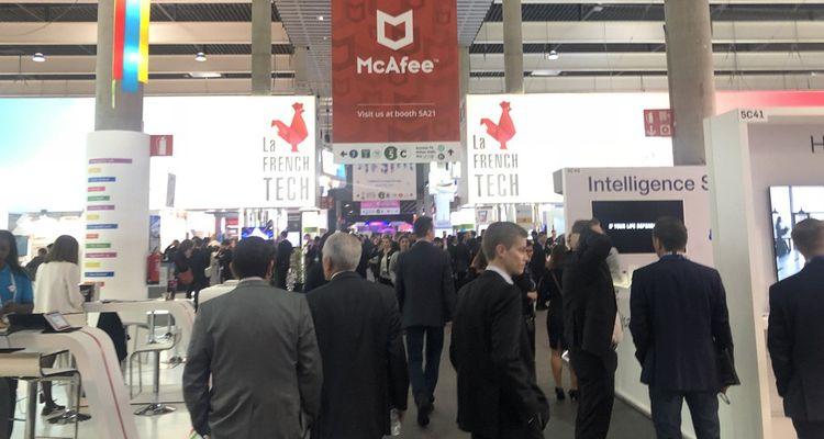 Le pavillon French Tech au Mobile World Congress 2019.