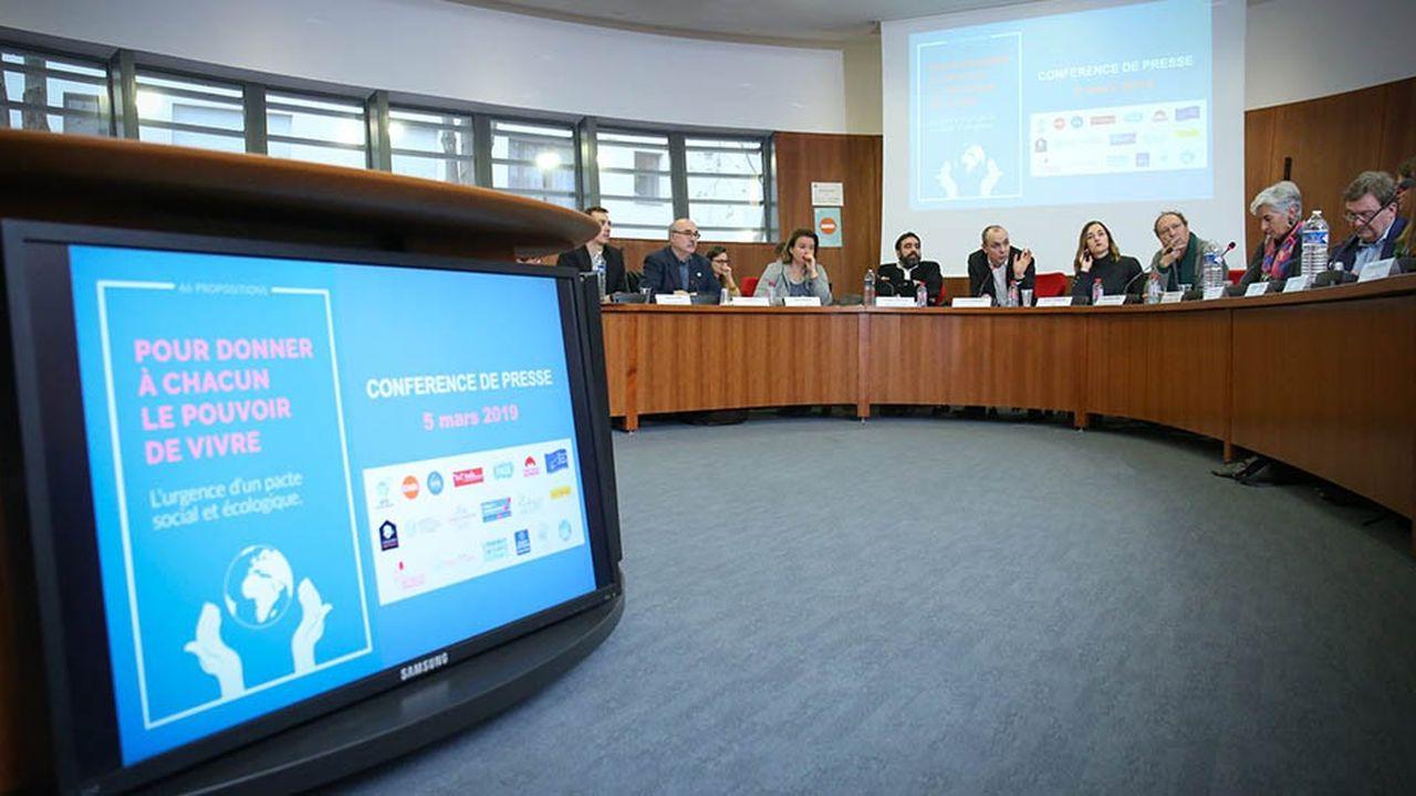 Dix-neuf associations, ONG et syndicats, dont la CFDT, la Fondation Abbé Pierre ou encore la Fondation Nicolas Hulot, ont présenté mardi 66 propositions pour «allier justice sociale, lutte contre les inégalités et transition écologique».