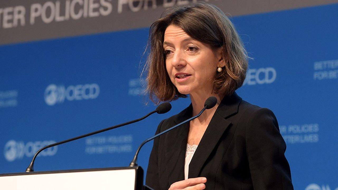 La nouvelle chef économiste de l'OCDE, Laurence Boone, annonce une forte révision à la baisse des prévisions de croissance de la zone euro.