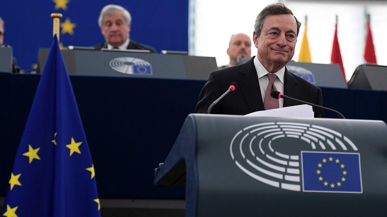 Le président de la BCE, l'Italien Mario Draghi, quittera ses fonctions en octobre2019.