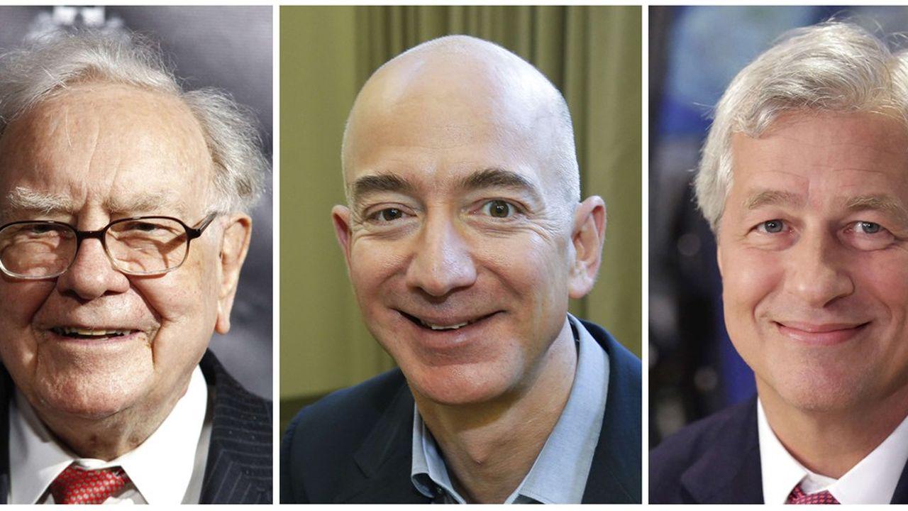 La structure a été créée à l'initiative de trois grands patrons américains, Warren Buffett (Berkshire Hathaway), Jeff Bezos (Amazon) etJamie Dimon (JP Morgan)