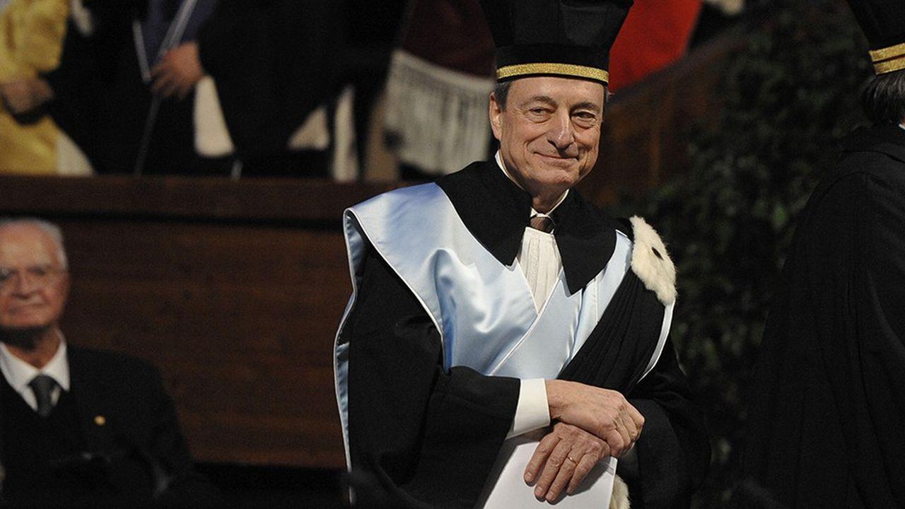 Mario Draghi, le président de la BCE, à Bologne, le 22 février.