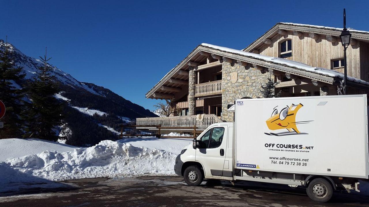 OffCourses.net livre aux skieurs des « box » contenant les repas de la semaine ou des produits alimentaires et d'entretien à la carte choisis sur son site Internet.