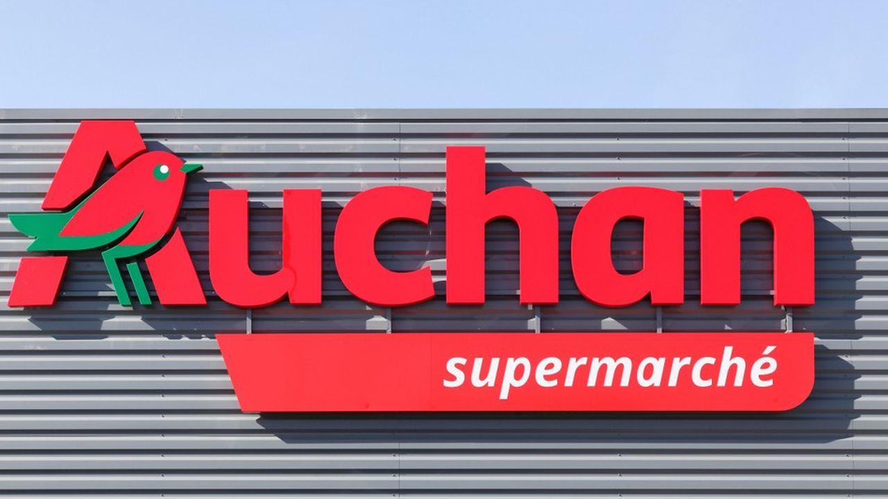 La marque Auchan, apposée désormais sur tous les points de contact avec ses clients, n'a pas encore trouvé sa performance économique, constate le nouveau patron du groupe, Edgard Bonte.