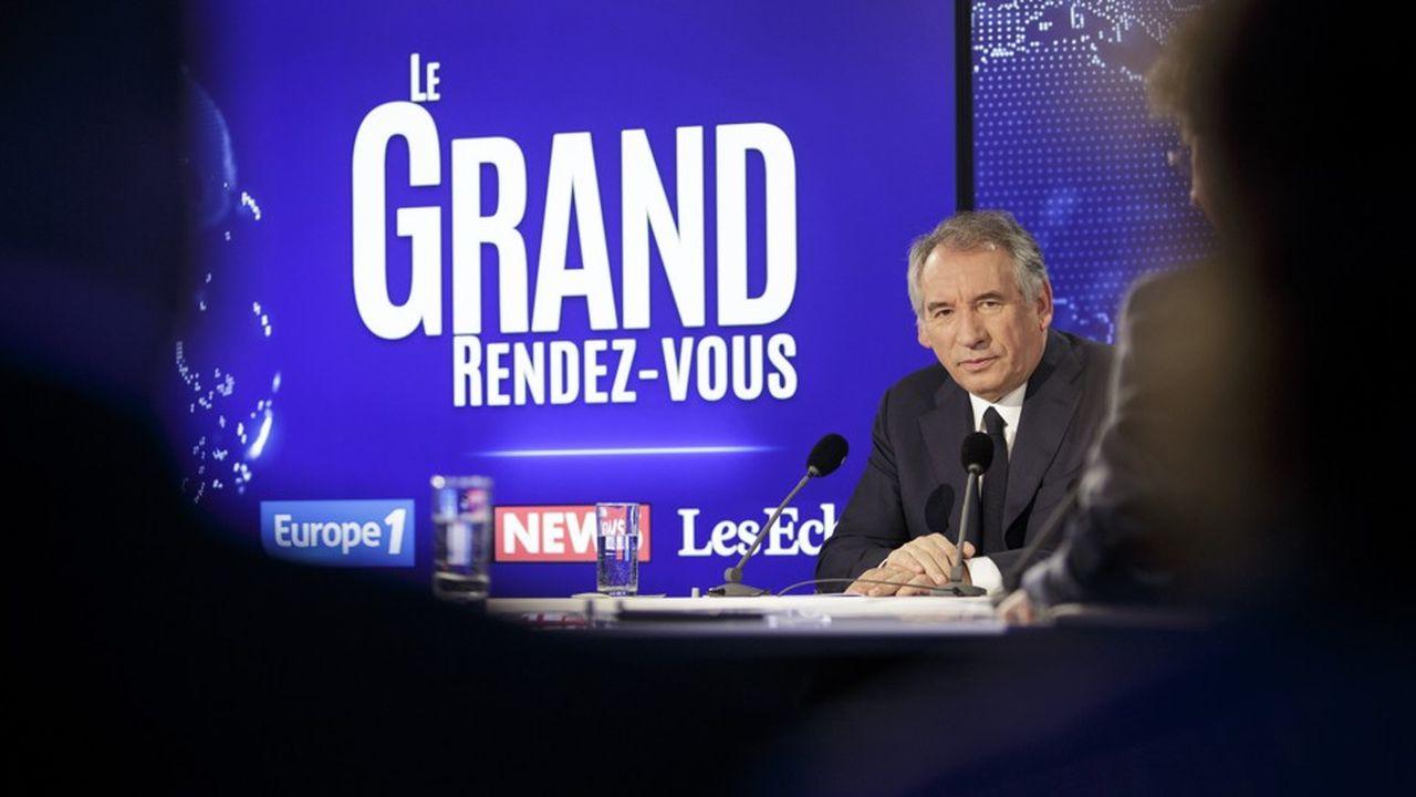 François Bayrou sur le plateau du Grand Rendez-vous.