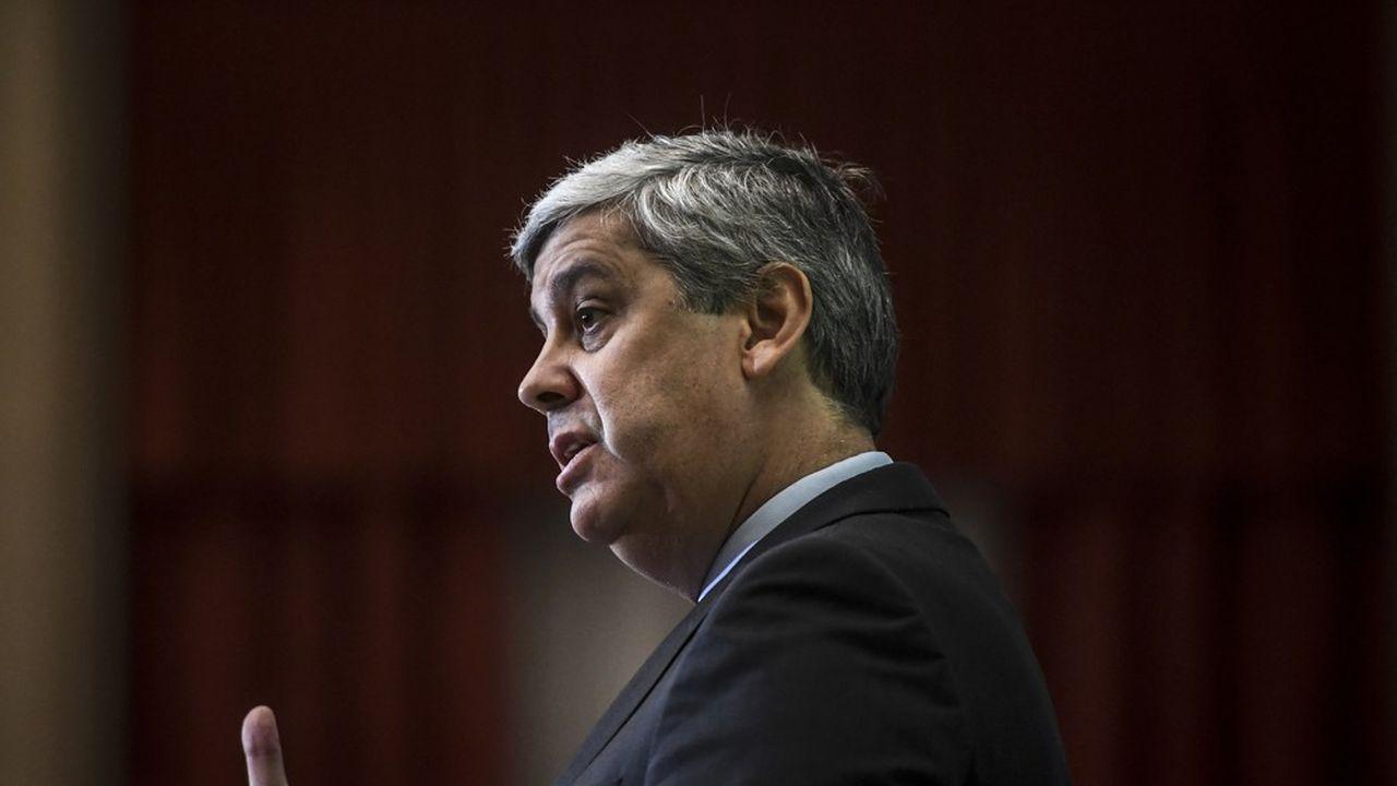 Mario Centeno, le président de l'Eurogroupe et ministre des Finances portugais.