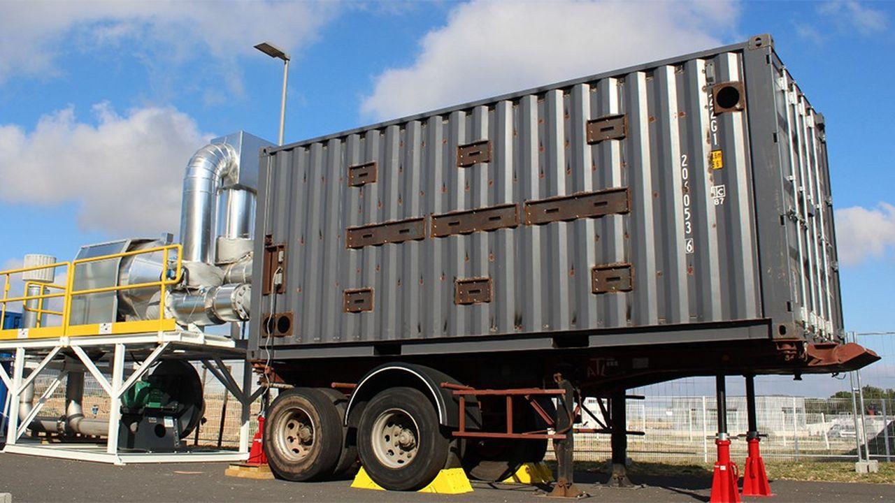 Baptisée « EcoStock », cette pile se présente sous la forme d'un conteneur maritime classique, isolé de l'intérieur et rempli de céramiques fabriquées à partir de déchets.