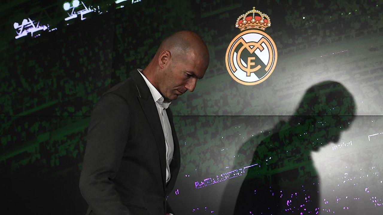 Zinédine Zidane a tenu le 11mars à Madrid une conférence de presse marquant son retour comme entraîneur du Real Madrid après le licenciement de Santiago Solari.