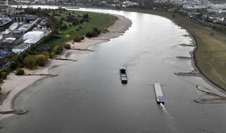 Le Rhin à Dusselforf en octobre dernier