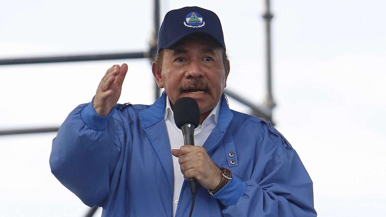 Mercredi 29août 2018, le président Daniel Ortega s'adresse à Managua à ses partisans. Mais il est désormais obligé de négocier avec l'opposition, après avoir réprimé par un bain de sang des manifestations l'année dernière.