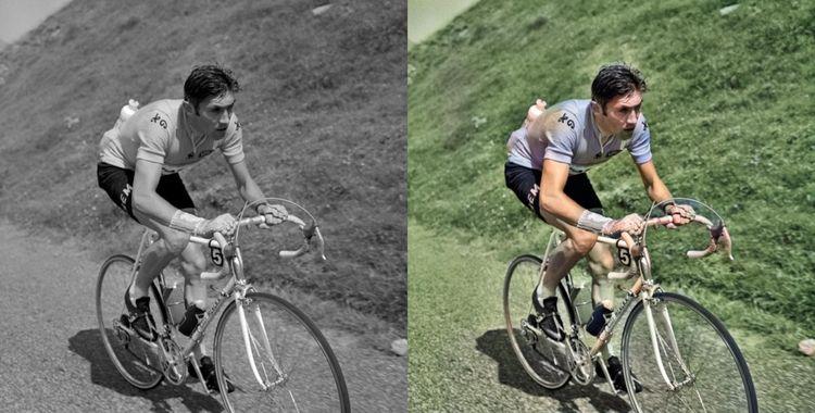 Sur la photographie d'Eddy Merckx, on peut se rendre compte que le système est encore perfectible: le logiciel a du mal à distinguer la route et l'herbe, il confond également la jambe du coureur cycliste avec la végétation.