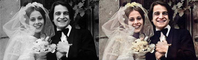 Claude Jade et Jean-Pierre Léaud, dans les rôles de Christine Darbon et d'Antoine Doinel dans la série sur les aventures d'Antoine Doinel réalisée par François Truffaut.
