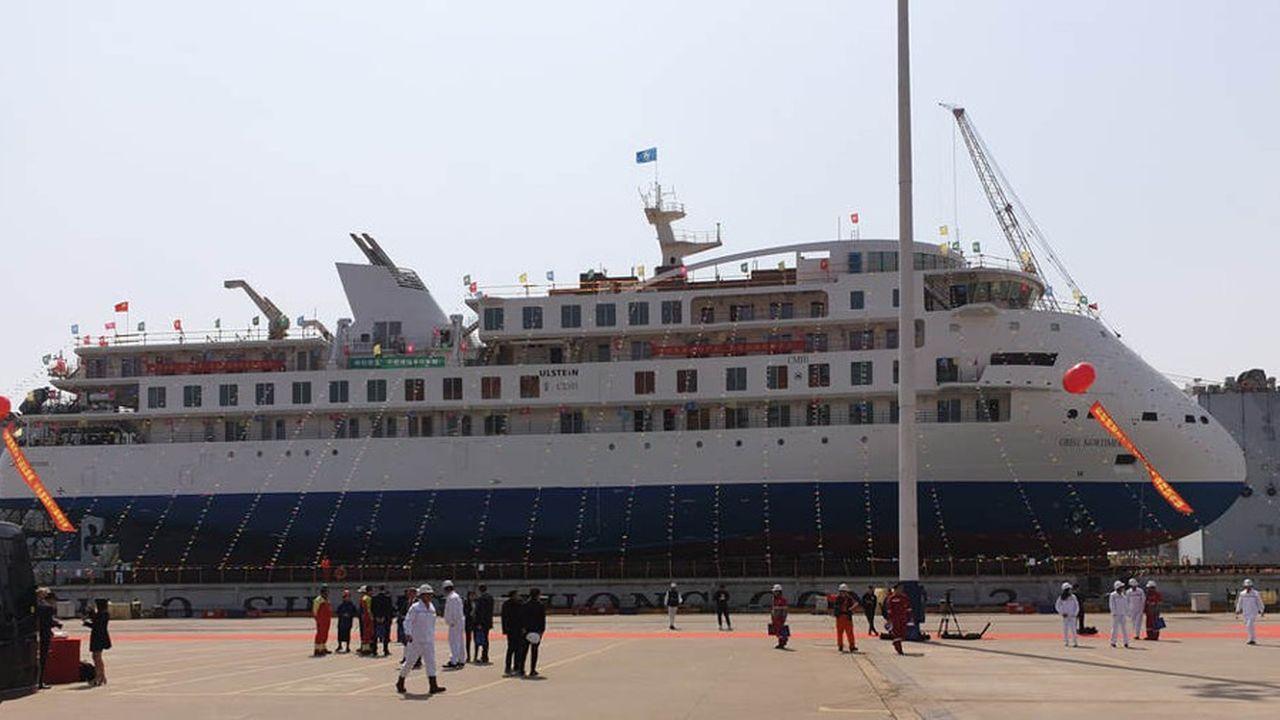 Lancé le 12mars, le «Greg Mortimer» est loin d'être un géant des mers, mais c'est le premier paquebot entièrement construit en Chine.