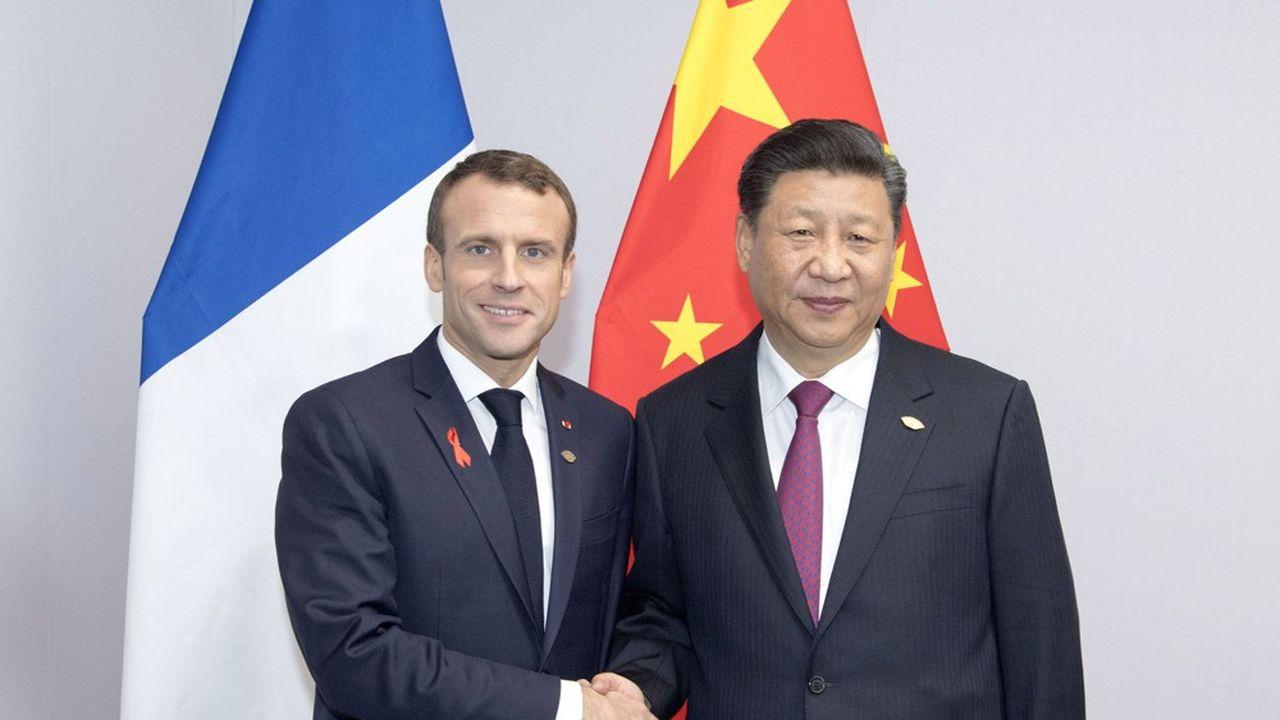 Xi Jinping et Emmanuel Macron à Buenos Aires, en Argentine, le 1er décembre dernier.