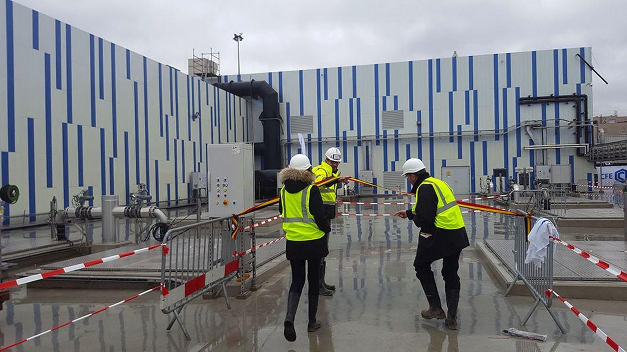 Vendredi, la maire de Bruxelles a inauguré la station d'épuration de Bruxelles-Sud, rénovée par le groupement Vinci, CFE et Nizet, qui dessert l'équivalent de360.000 habitants soit un quart de la métropole.
