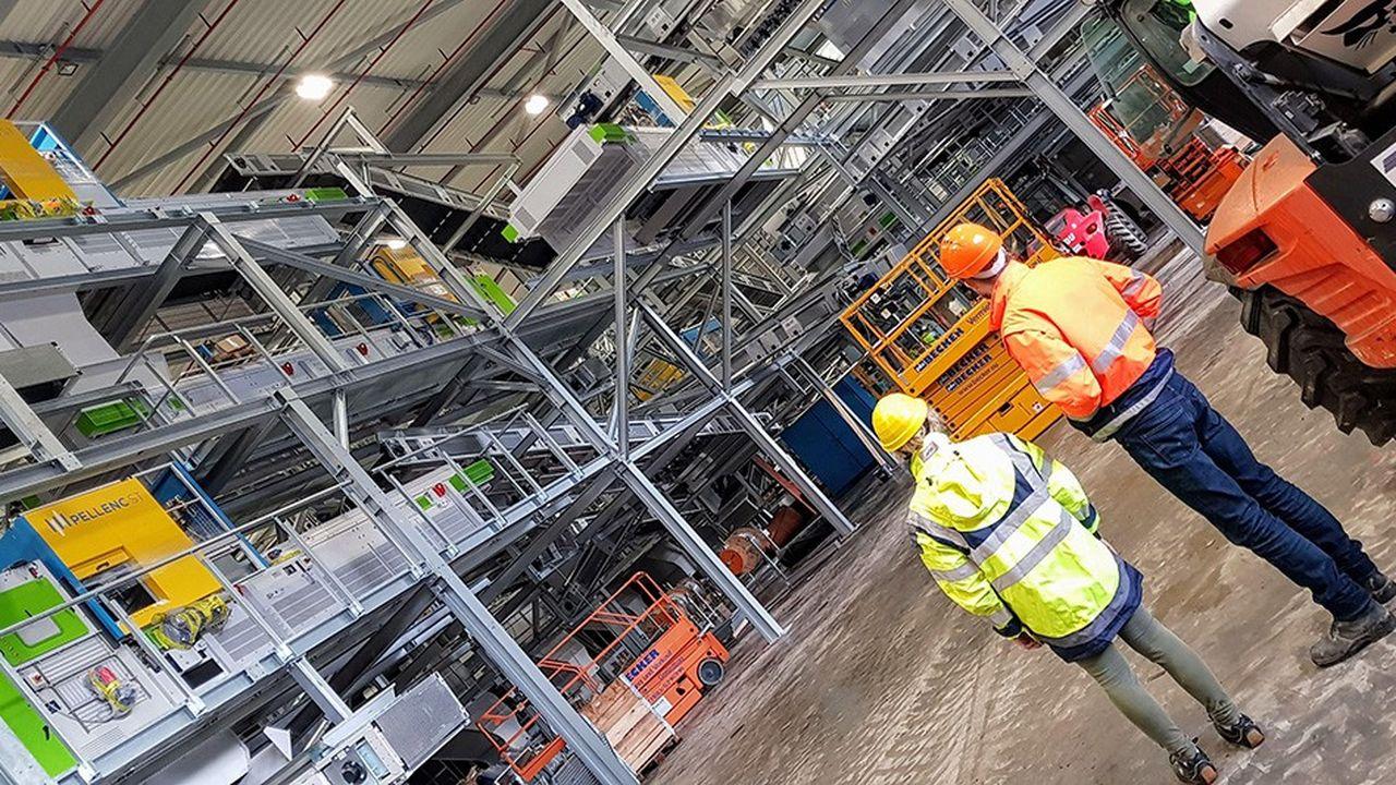 L'usine d'Ölbronn de Suez, un des plus grands sites de tri d'Europe où sont déployés actuellement des machines de Pellenc ST connectées à l'application d'InUse.