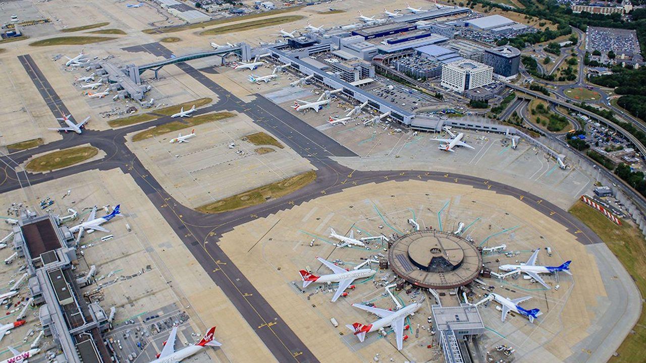 L'aéroport de Gatwick au Royaume-Uni