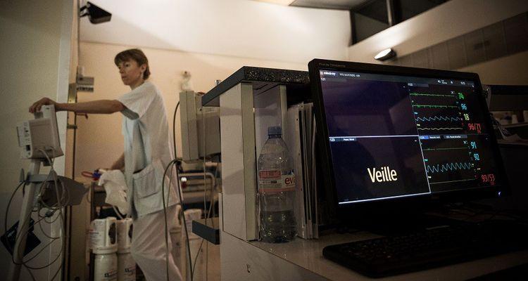 Service des Urgences de l'Hopital de la Pitie-Salpetriere, le 31 Decembre 2018.
