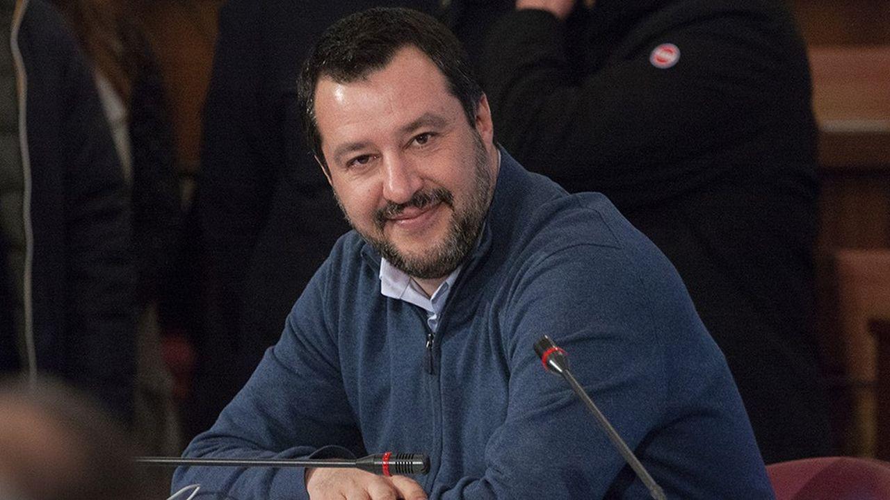 Matteo Salvini leader de la Ligue, ministre de l'intérieur et vice-président du conseil