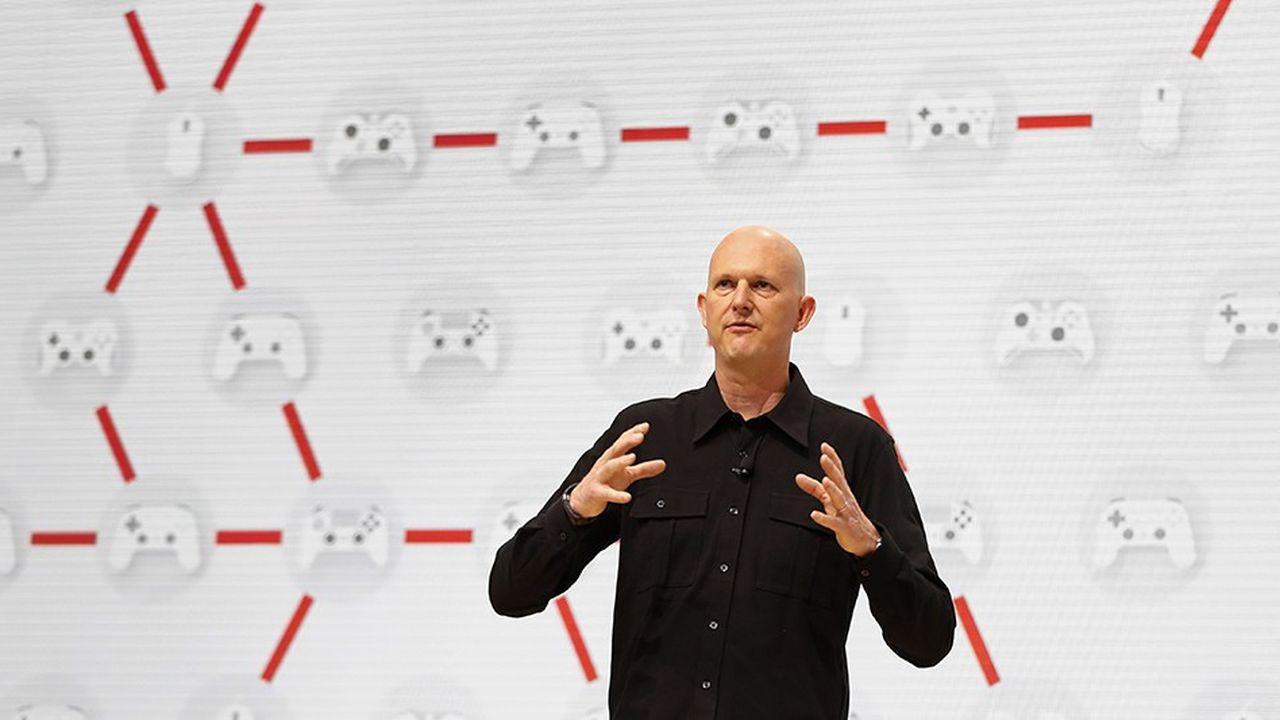 Phil Harrison, vice-président de Google, annonce le lancement de Stadia, la nouvelle plate-forme de streaming de jeux vidéo du géant du Web.