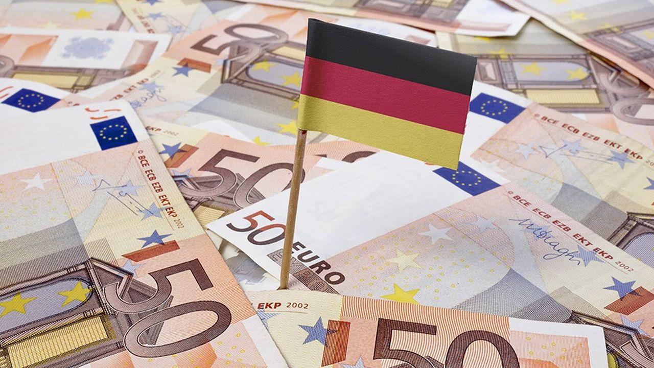 La part des recettes fiscales dans le PIB allemand est passée de 38,6 % en 2014 à 39,8 % en 2018.