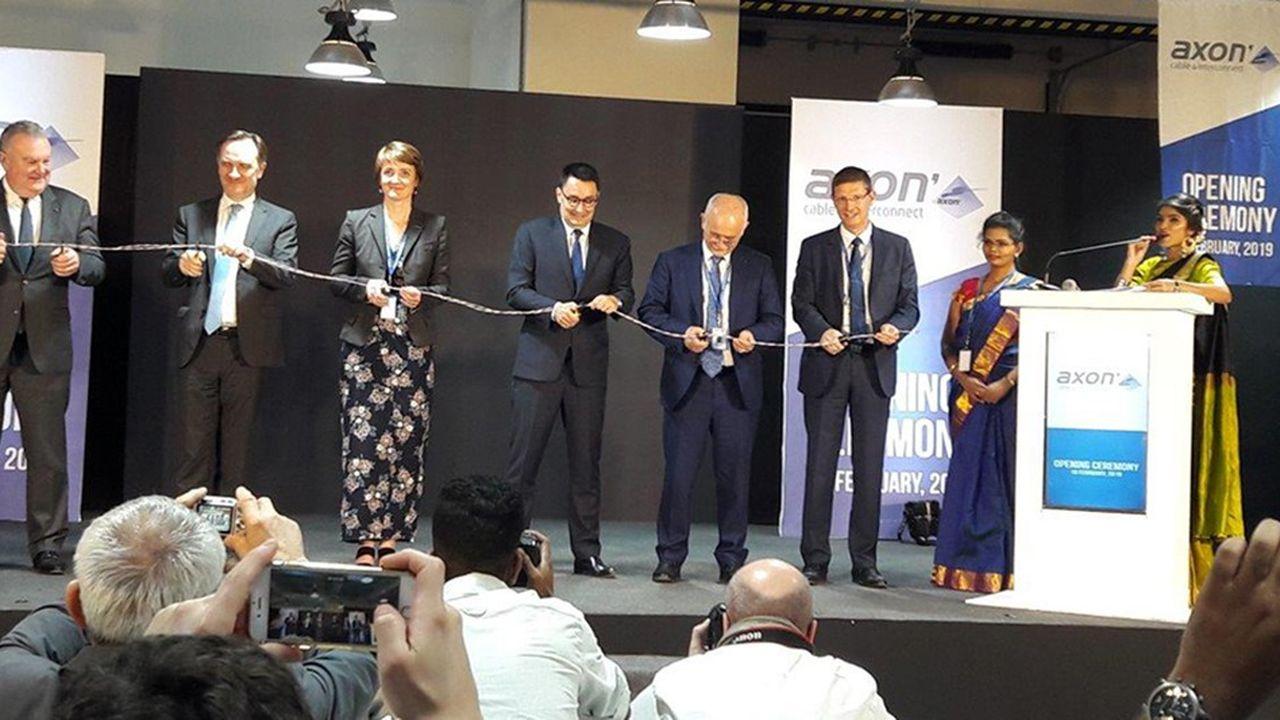 Inauguration de l'usine indienne d'Axon'Câble.