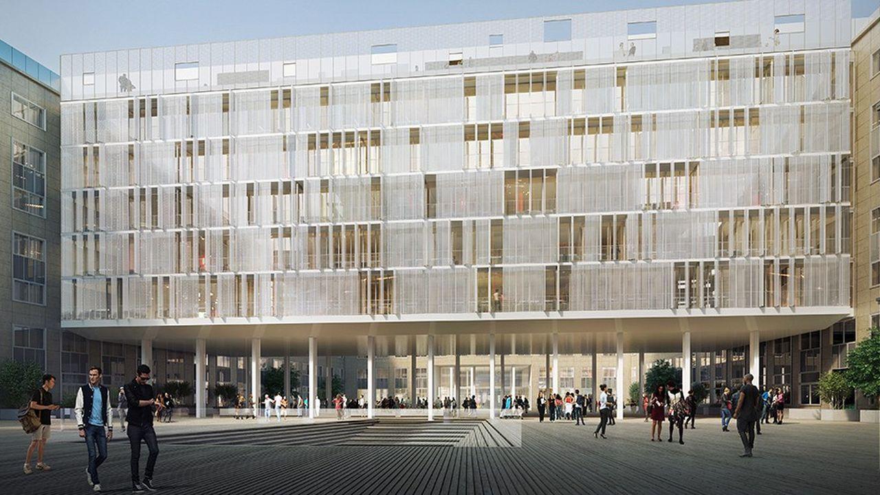 La nouvelle «aile» de 4.000m2 de l'université Paris-Dauphine doit voir le jour en 2024.