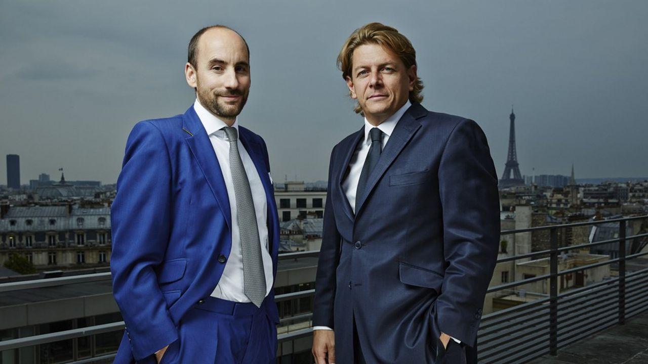 Antoine Flamarion et Mathieu Chabran, cofondateurs de Tikehau Capital.