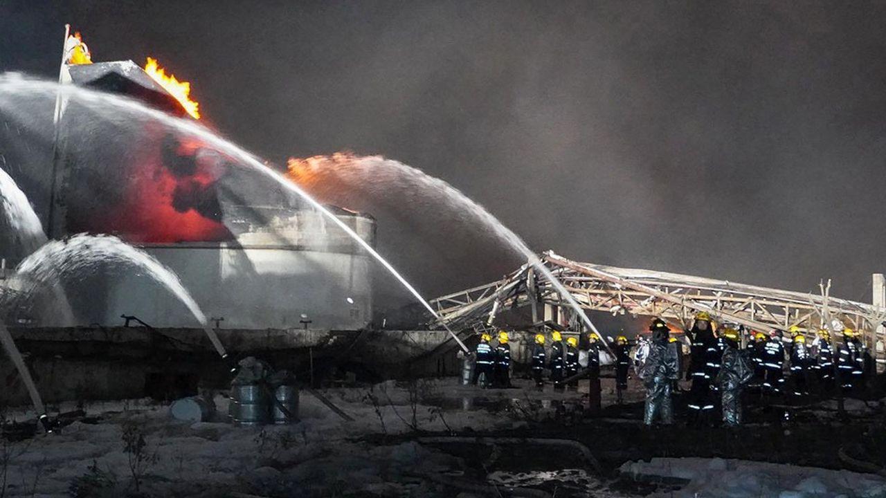 La très forte explosion a secoué jeudi une usine chimique située dans le parc industriel de Yancheng, au nord de Shanghai