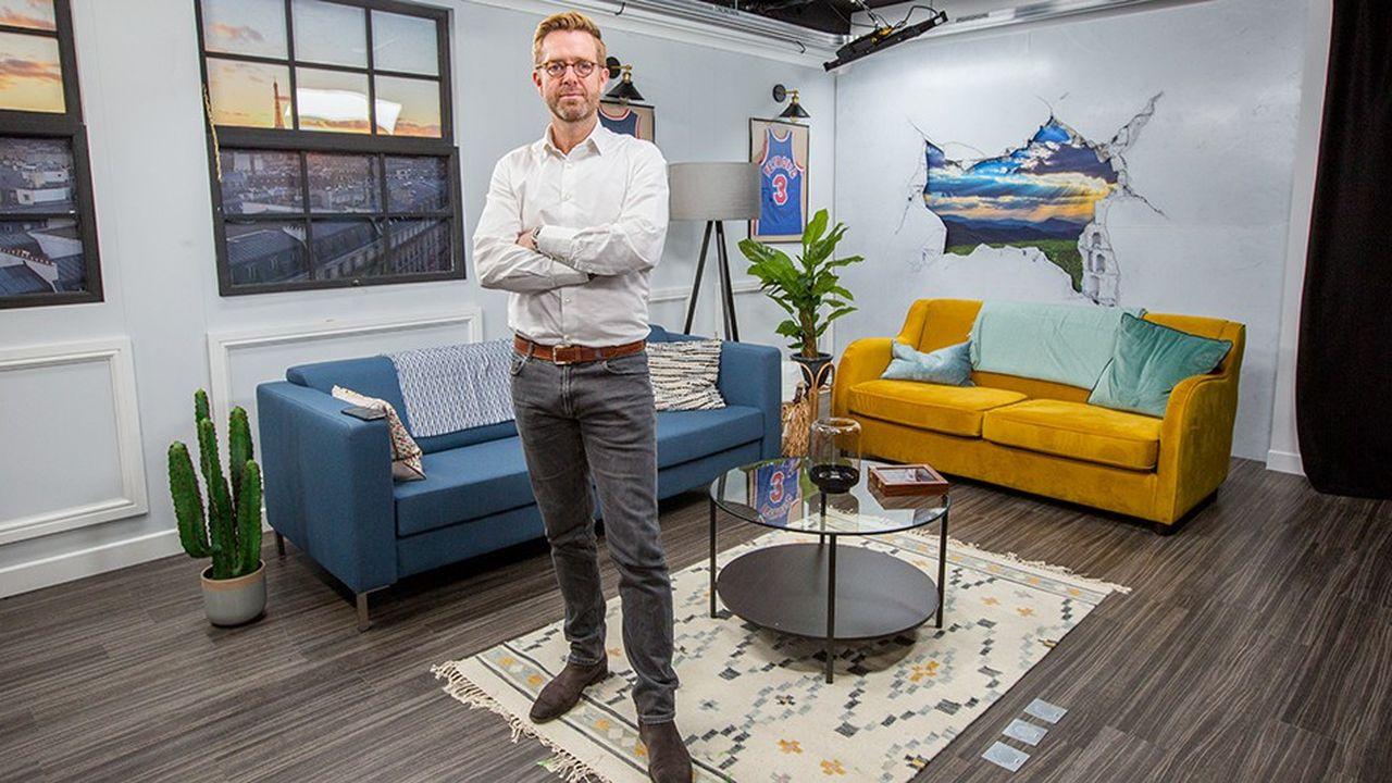 Alexandre Delpérier, directeur des programmes, des contenus et des acquisitions de Yahoo! en France, dans le nouveau studio inauguré en cette fin de semaine.