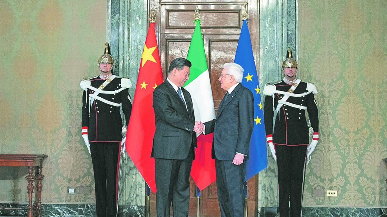 Rencontre du président chinois Xi Jinping avec son homologue Sergio Mattarella à Rome