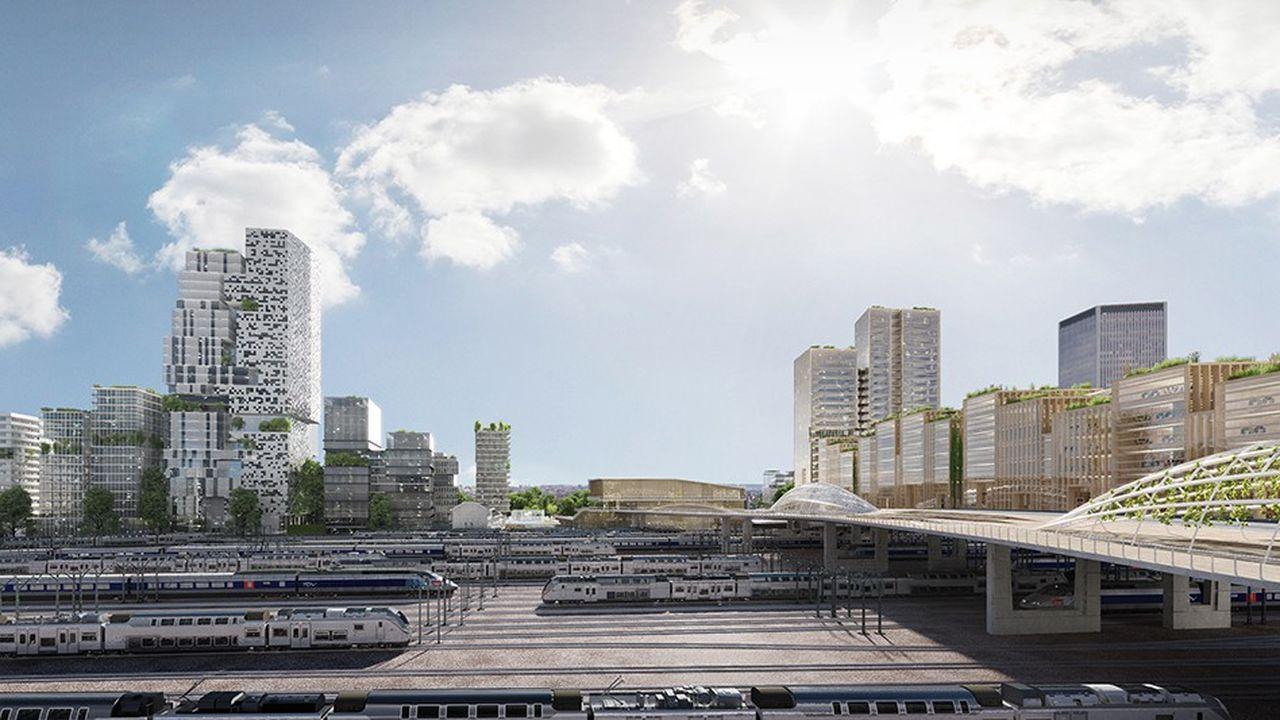 Le programme sera situé de part et d'autre de la future gare Pleyel, hub du Grand Paris Express.