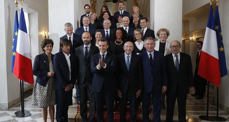 La photo officielle du gouvernement Philippe 1