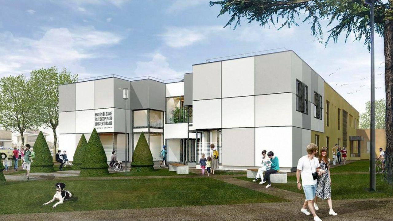 La future maison de santé de Montigny le Bretonneuxaccueillera une vingtaine de professionnels de santé : médecins généralistes, infirmières etc..