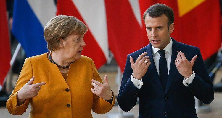 Angela Merkel et Emmanuel Macron lors du sommet européen du 22 mars 2019 à Bruxelles