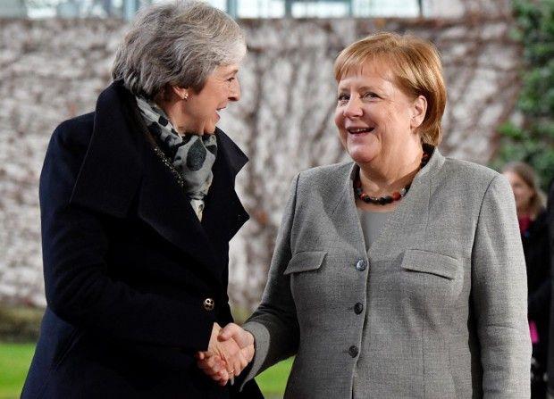 Angela Merkel et Théresa May à Berlin le 11 décembre 2018