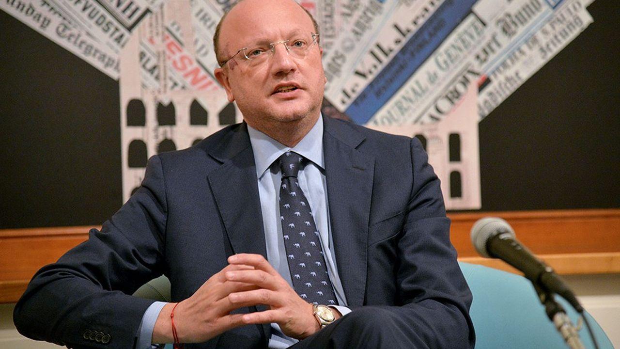Vincenzo Boccia, président de Confindustria. Le patronat italien alerte sur le ralentissement de l'activité.