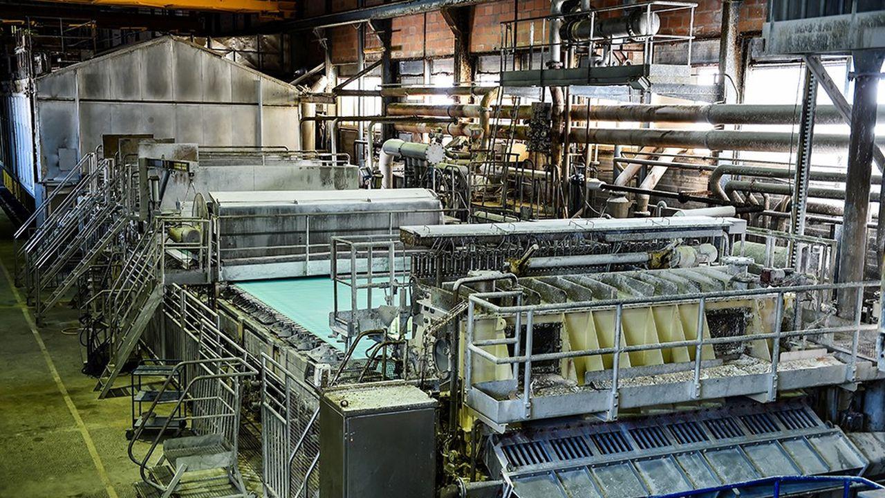 Machine sur le site de Bessé-sur-Braye dans la Sarthe.