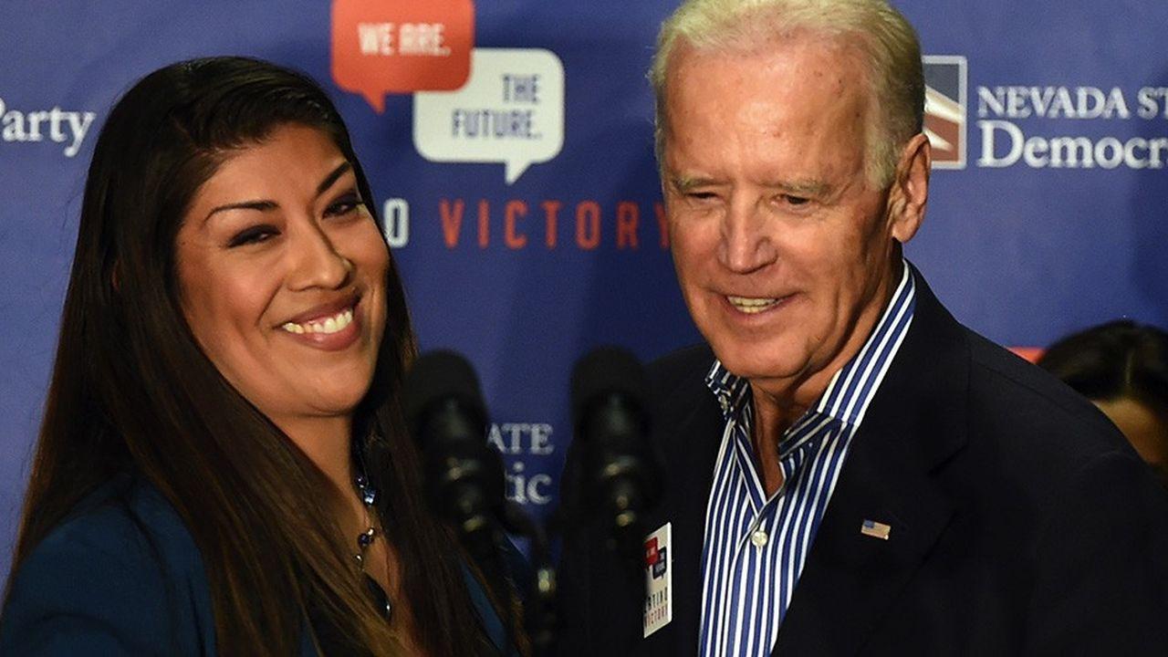 Joe Biden et Lucy Flores le 31octobre 2014.