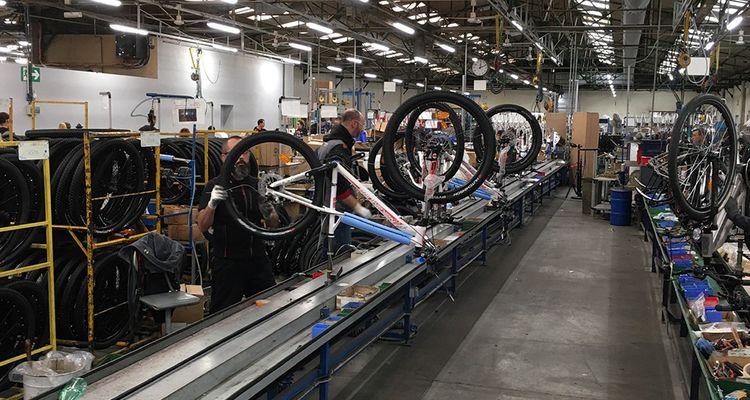 Les chaînes de montage de MFC, à Machecoul, ont produit l'an passé 420.000 vélos, faisant de MFC le premier assembleur en France.