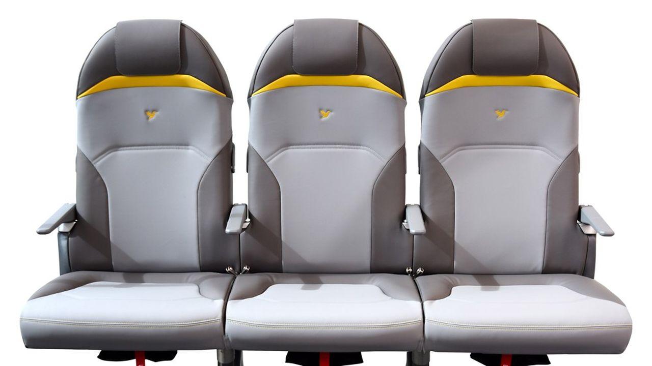 Avec une masse de 5kg par place, le TiSeat E2 est le siège d'avion le plus léger du monde sur la classe économique.