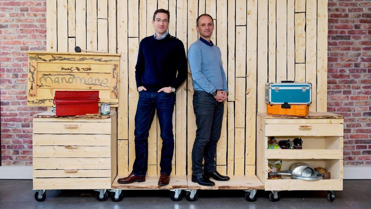 Philippe de Chanville et Christian Raisson , co-fondateur de ManoMano.