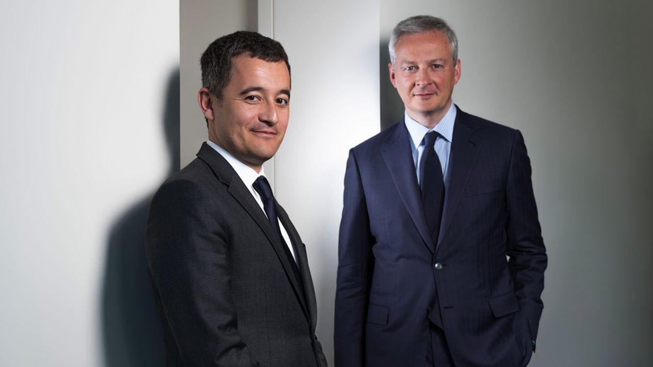 Gérald Darmanin et Bruno Le Maire revoient la stratégie budgétaire du gouvernement, quatre mois après le début de la crise des «gilets jaunes».