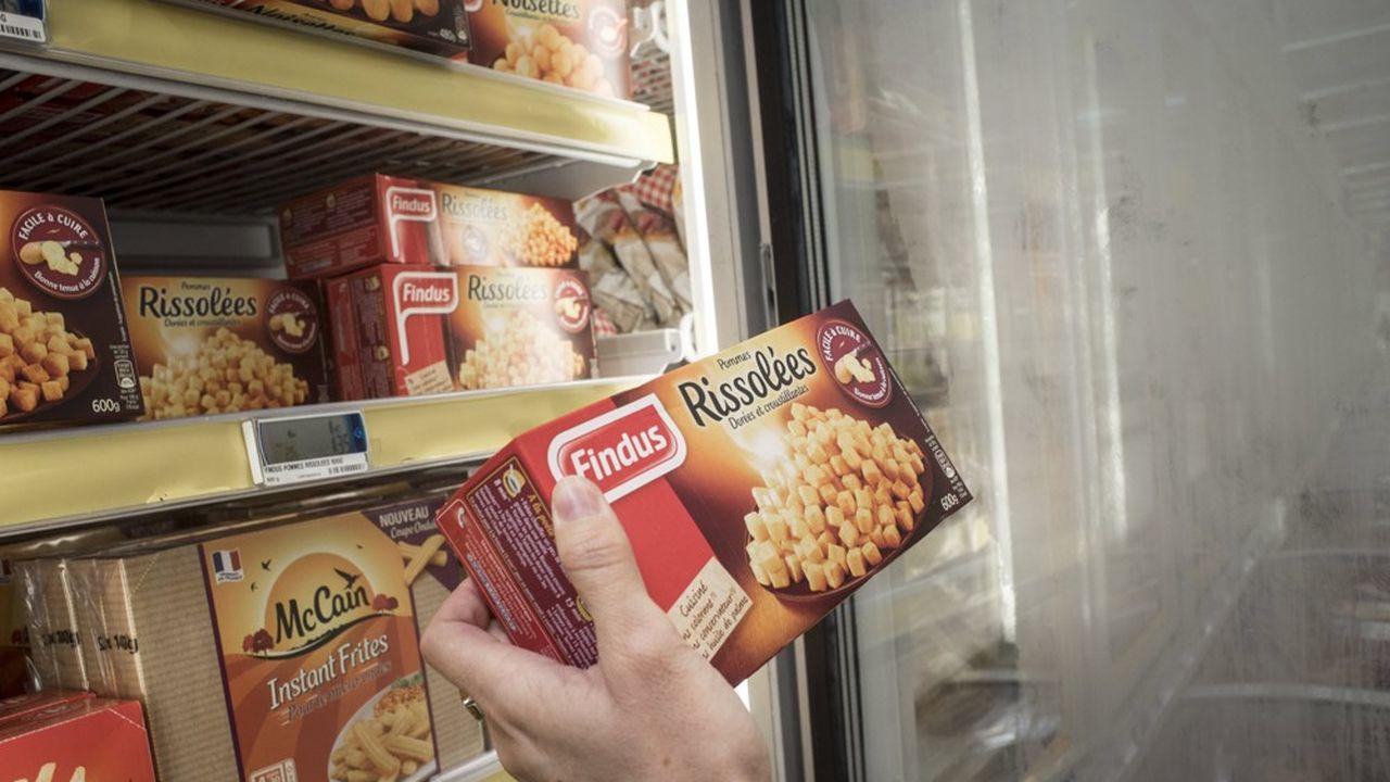 Les pommes de terre surgelées à rissoler ou noisettes ont bondi de plus de 9% quand le marché affiche un petit +0,8%.