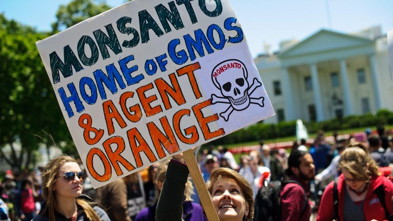Manifestation contre Monsanto et les OGM devant la Maison Blanche, le 25 mai 2013.