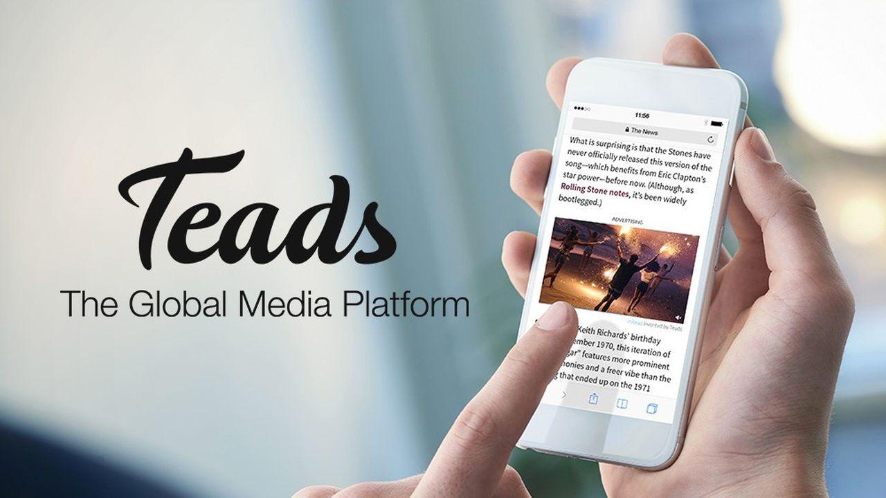 Teads est spécialisé dans les bandeaux publicitaires et les courtes vidéos qui s'intercalent entre les paragraphes d'un article sur le Web.