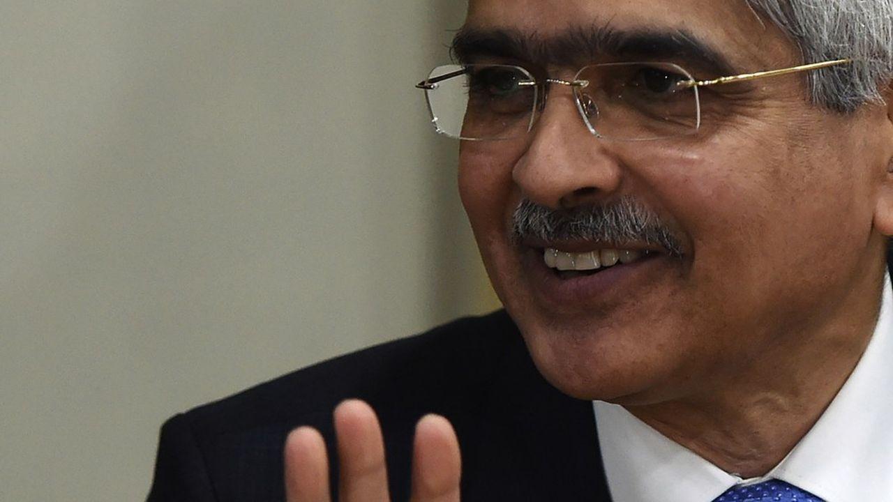 Le gouverneur de la banque centrale de l'Inde, Shaktikanta Das.