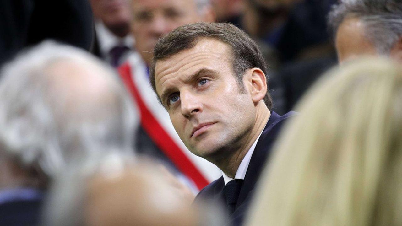 Emmanuel Macron lors d'un «grand débat» àGrand Bourgtheroulde, en Normandie, le 15janvier dernier.