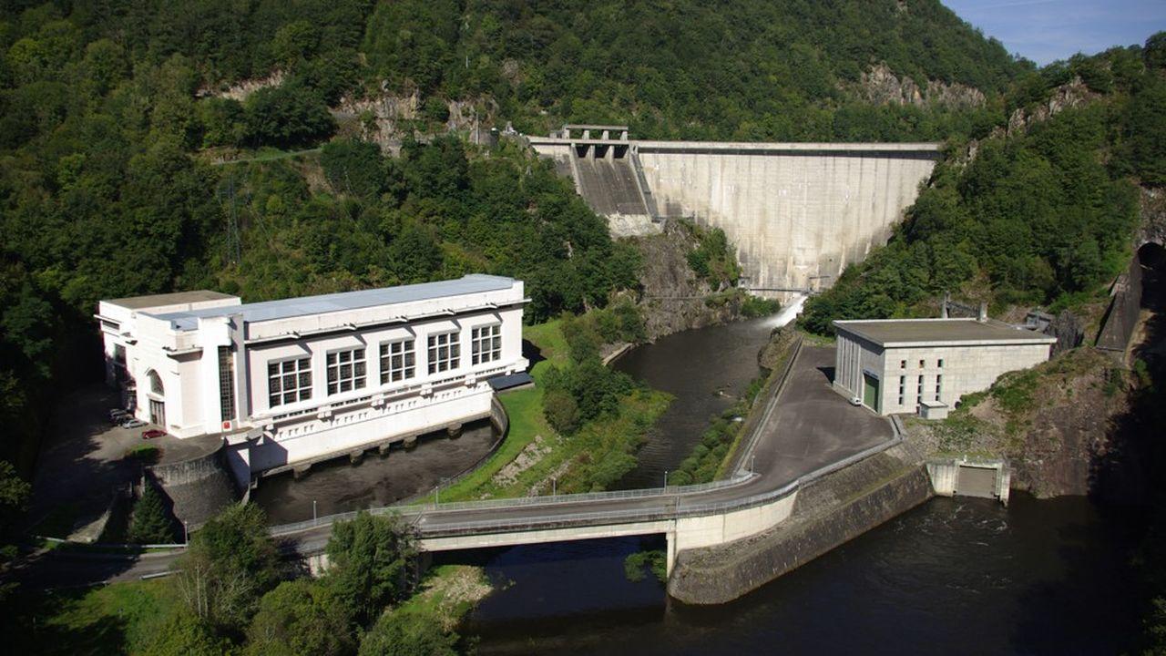 Barrage de Marèges exploité par la Shem.